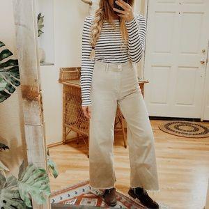 Zara Marine Straight Jeans in Aged Stone